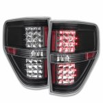 2011 Ford F150 LED Tail Lights Black Clear