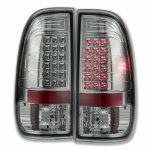 2002 Ford F250 Super Duty Smoked LED Tail Lights