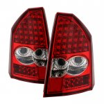Chrysler 300C 2005-2007 Red Clear LED Tail Lights