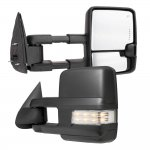 Chevy Silverado 2500HD 2003-2006 Towing Mirrors Clear LED Signal Lights Power Heated