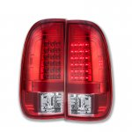 Ford F150 1997-2003 Red Clear LED Tail Lights