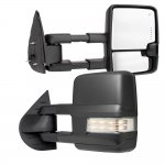 Chevy Silverado 3500HD 2007-2014 Towing Mirrors Clear LED Signal Lights Power Heated