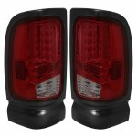 2001 Dodge Ram 2500 LED Tail Lights Red Smoked