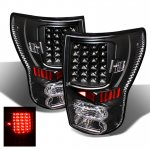 2013 Toyota Tundra Black and Clear LED Tail Lights
