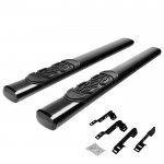 2013 Chevy Silverado 2500HD Regular Cab Nerf Bars Black 6 Inches Oval