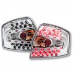 Audi S4 Sedan 2002-2005 Chrome LED Tail Lights