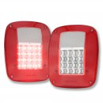 1993 Jeep Wrangler YJ LED Tail Lights Red and Clear