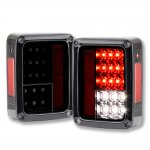 2013 Jeep Wrangler JK LED Tail Lights Black