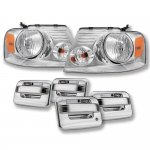 2004 Ford F150 Chrome Euro Headlights Chrome Door Handle Cover
