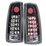 1990 Chevy 1500 Pickup LED Tail Lights Black Chrome