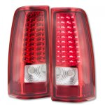 2004 Chevy Silverado 1500HD Red Clear LED Tail Lights