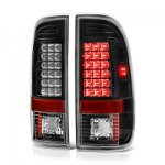 2007 Ford F350 Super Duty LED Tail Lights Black Chrome
