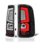 GMC Sierra 3500HD 2007-2014 Custom LED Tail Lights Black Clear