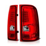 2009 GMC Sierra 1500 Custom LED Tail Lights Red Clear