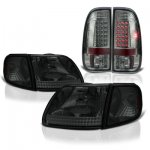 1999 Ford F150 Smoked Headlights Corner Lights and LED Tail Lights