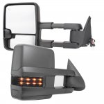 2014 Chevy Silverado Towing Mirrors Smoked Signal Lights Power Heated