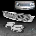 Cadillac Deville 2000-2005 Chrome Mesh Grille and Door Handle Covers