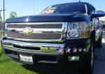 Chevy Silverado 2007-2013 Black Chrome Wire Mesh Grille Insert