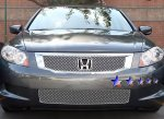 Honda Accord V6 Sedan 2008-2010 Chrome Lower Bumper Wire Mesh Grille