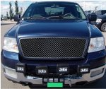 2004 Ford F150 Black Chrome Stainless Steel Wire Mesh Grille