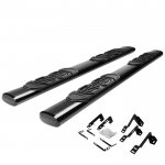 2002 Chevy Silverado 2500HD Crew Cab Nerf Bars Black 6 Inches Oval