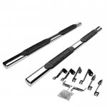 2013 Chevy Silverado 2500HD Crew Cab Nerf Bars Stainless 4 Inches Oval