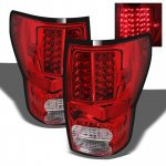 2008 Toyota Tundra Red and Clear LED Tail Lights