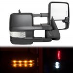 Chevy Silverado 1988-1998 Power Towing Mirrors Clear LED Signal Lights