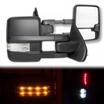 2017 Chevy Silverado Towing Mirrors Clear LED Lights Power Heated