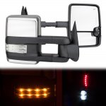 Chevy Blazer Full Size 1992-1994 Chrome Power Towing Mirrors Clear LED Signal Lights