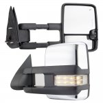 Chevy Avalanche 2003-2006 Chrome Towing Mirrors Clear LED Signal Lights Power Heated