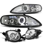 1993 Lexus SC400 Clear High Beam and Halo Projector Headlights Set