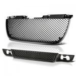 GMC Yukon 2007-2014 Black Mesh Grille and Bumper Grille Set