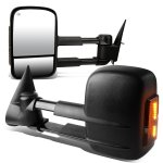GMC Sierra 2500 2003-2004 Power Heated Towing Mirrors Smoked Turn Signal Lights