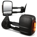Chevy Silverado 2007-2013 Power Heated Towing Mirrors Smoked Turn Signal Lights