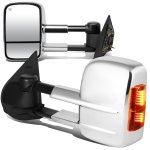 Chevy Silverado 2007-2013 Chrome Power Heated Towing Mirrors with Turn Signal Lights