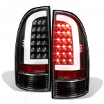 2010 Toyota Tacoma Black LED Tube LED Tail Lights