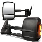 Chevy Tahoe 2000-2002 Towing Mirrors Power Heated Smoked LED Signal Lights