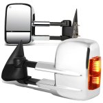 Chevy Silverado 2500HD 2001-2002 Chrome Towing Mirrors Power Heated LED Signal Lights