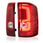 GMC Sierra 1500 2014-2018 Custom LED Tail Lights Red Clear