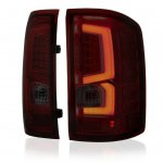 GMC Sierra 1500 2014-2018 Custom LED Tail Lights Tinted Red