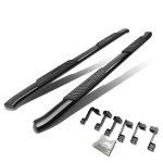 2013 Dodge Ram 3500 Crew Cab Nerf Bars Curved Black 5 Inches Oval