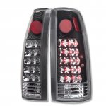 1999 GMC Yukon Denali LED Tail Lights Black Chrome