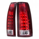 GMC Yukon 1992-1999 LED Tail Lights Red and Clear