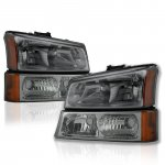 Chevy Silverado 2500HD 2003-2006 Smoked Euro Headlights and Bumper Lights