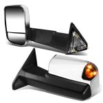 Dodge Ram 3500 2010-2017 Chrome Power Heated Towing Mirrors Smoked Signal Lights Temp Sensor