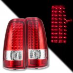 2003 Chevy Silverado LED Tail Lights Red Clear