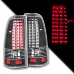 2004 Chevy Silverado 1500HD LED Tail Lights Black