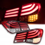 2012 Chevy Cruze LED Tail Lights Red Clear