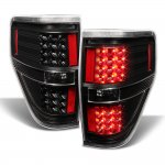 2010 Ford F150 Black LED Tail Lights